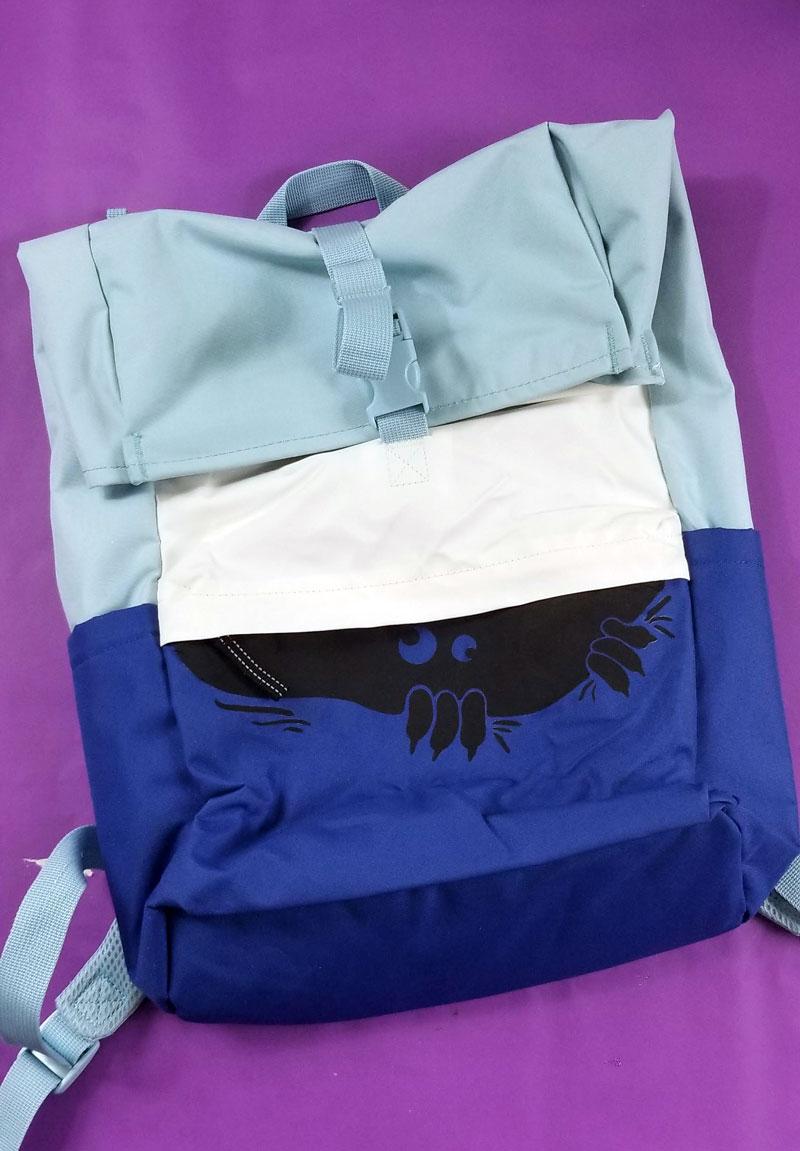 Monster backpack using peeking monster svg