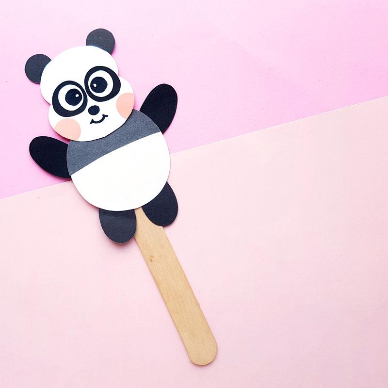 Panda Paper Craft – Puppet Template