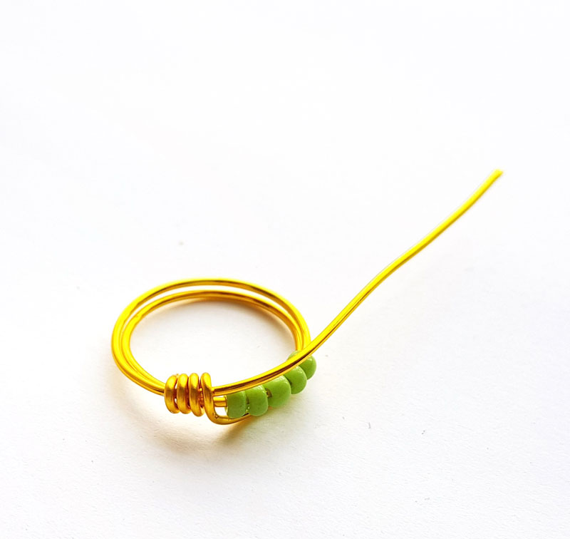 wire wrapped ring tutorial step 5