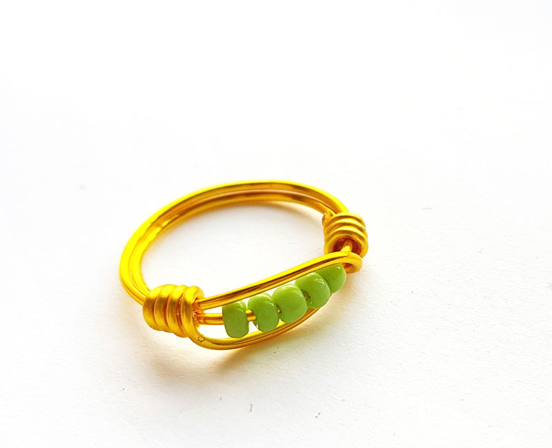 wire wrapped ring tutorial step 6