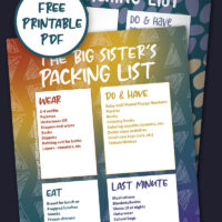 Big sibling packing list preview images