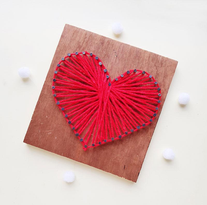 Easy Heart String Art