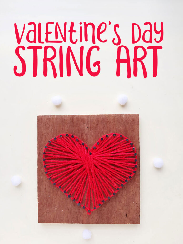 heart string art with a free template