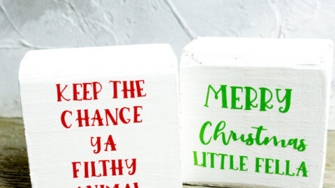 Christmas DIY decor home alone blocks