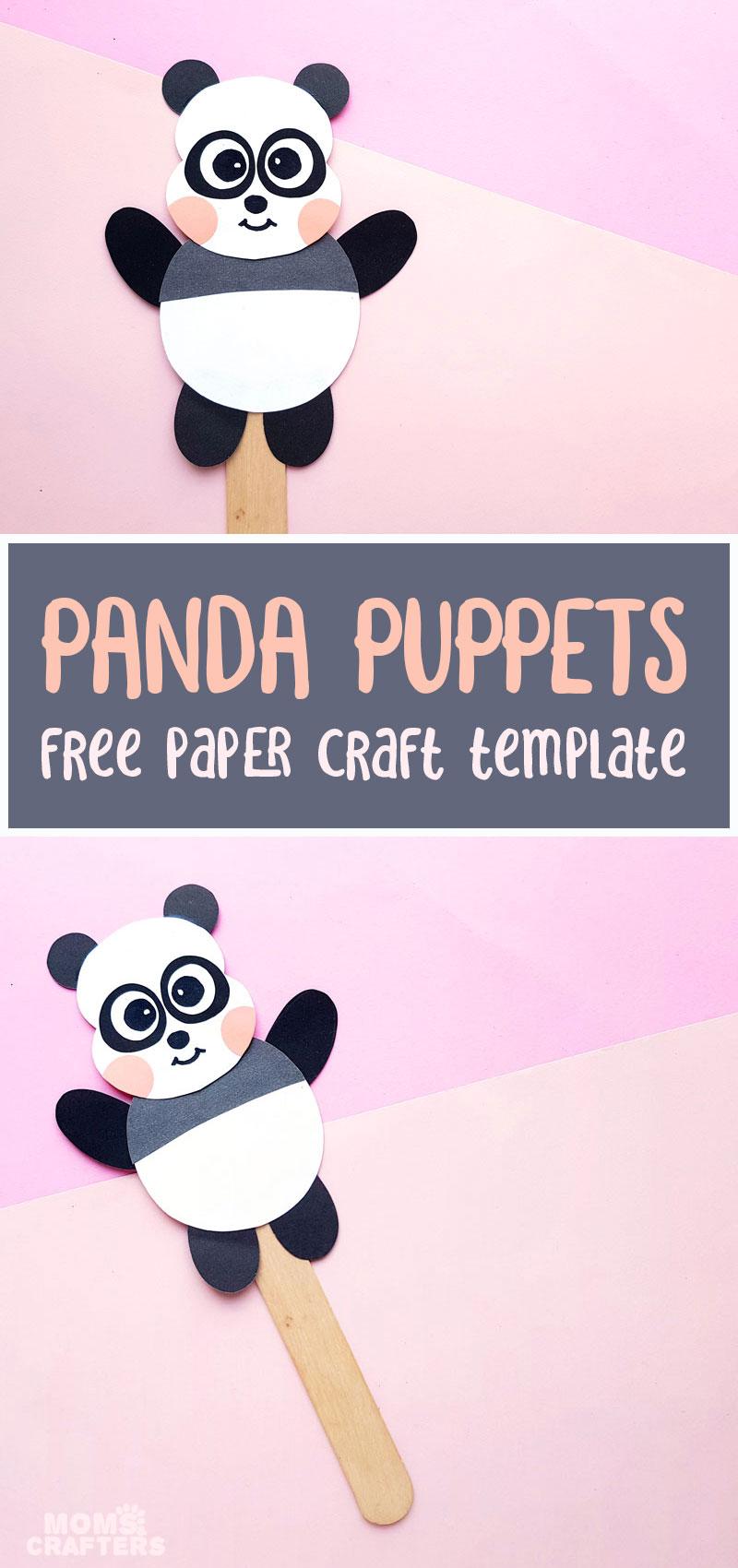 Paper panda craft - tmeplate