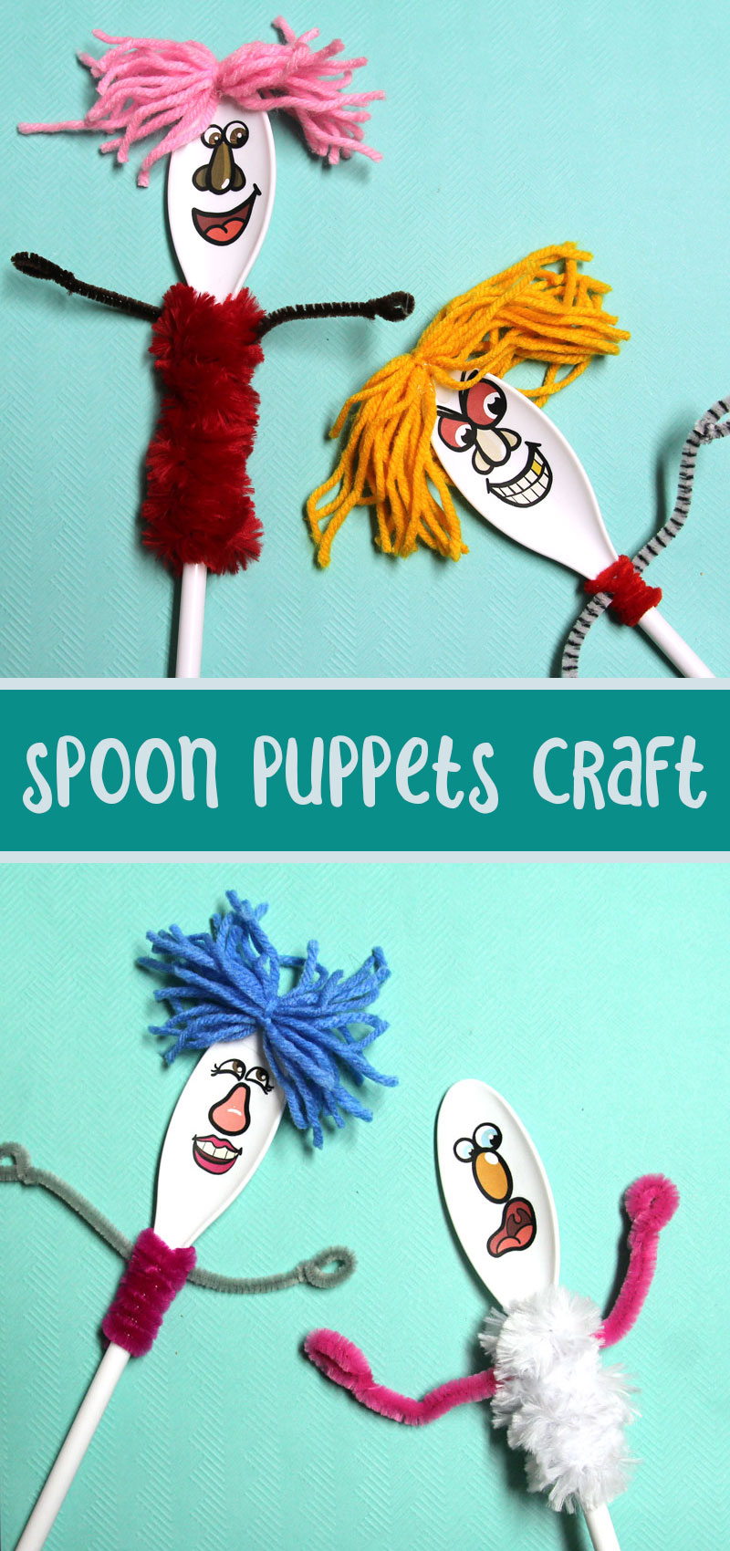How to make spoon puppets final collage