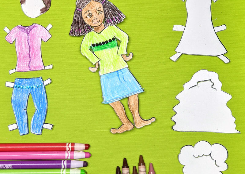 Paper Doll Coloring Pages – Design Your Own Version!