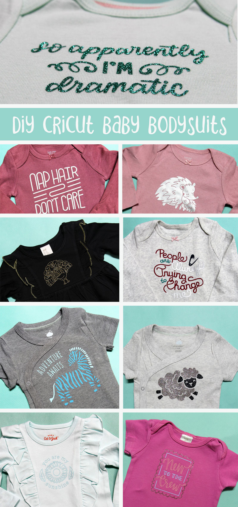 Cricut shirts for girls collage