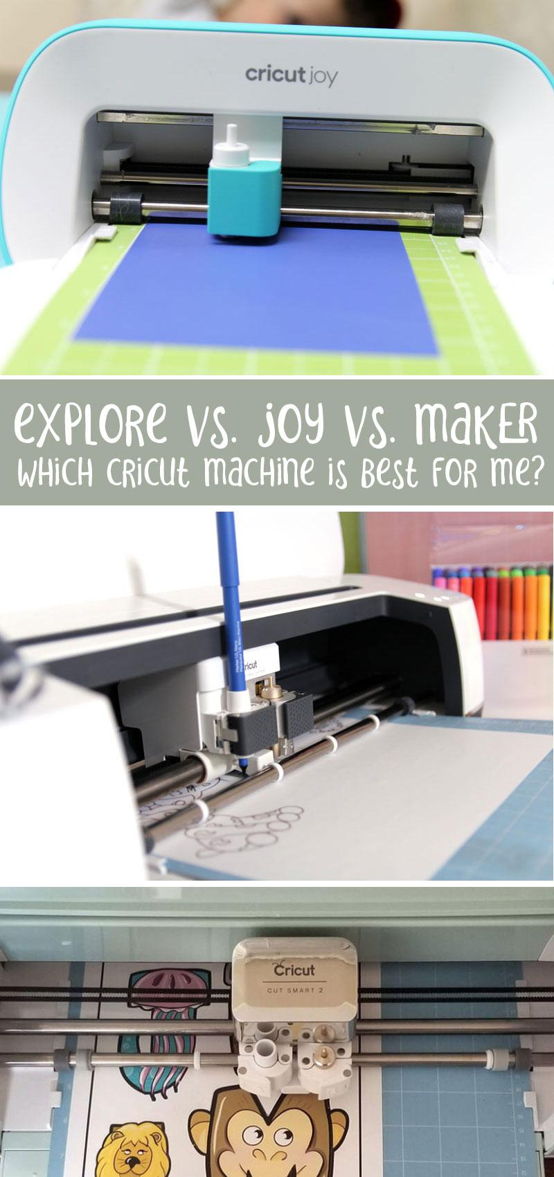 Cricut machine comparison joy vs explore air 2 vs maker