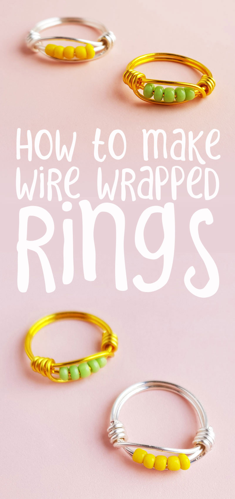 DIY wire wrapped rings tutorial for beginners