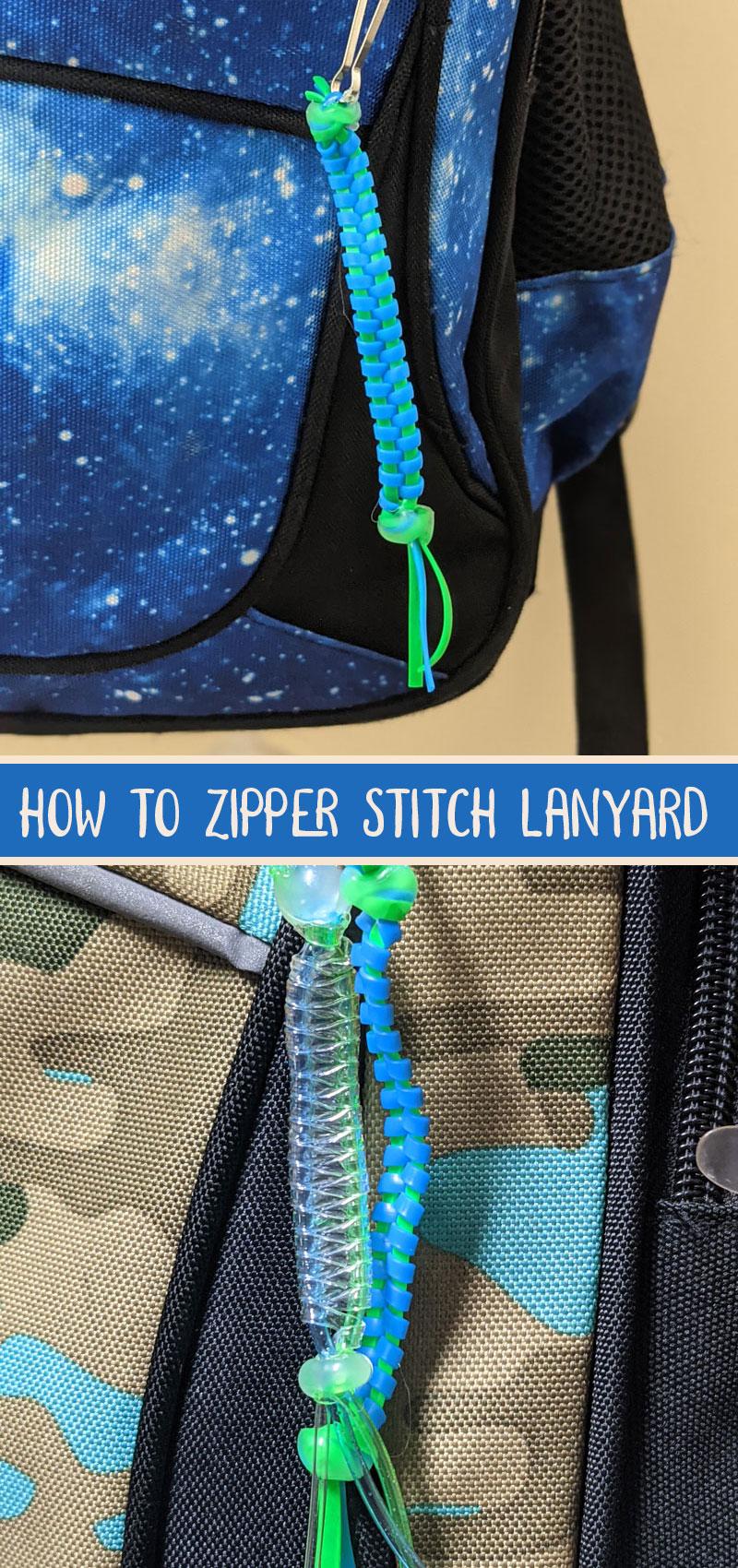 zipper stitch lanyard on backpacks