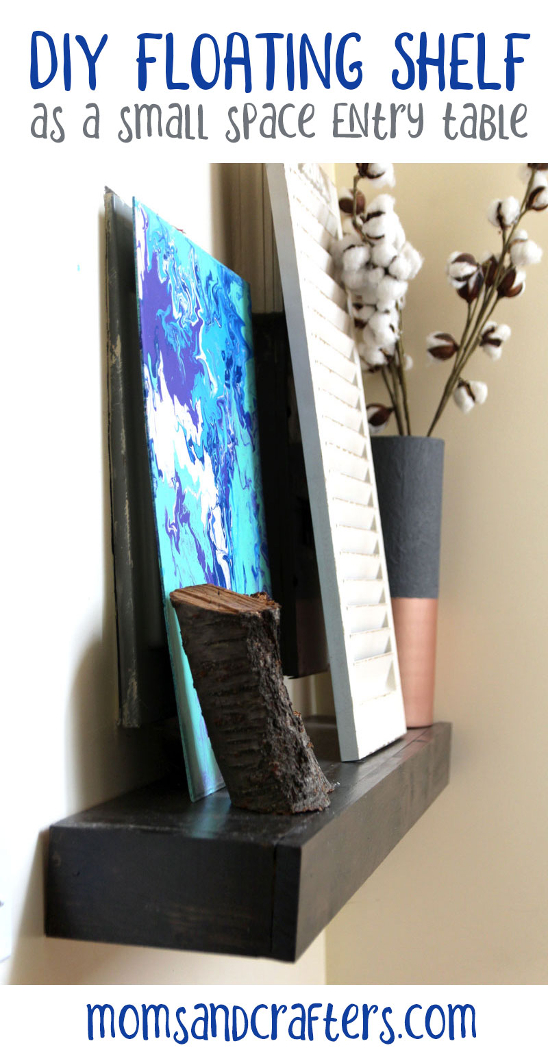 DIY small entry table - floating shelf hack