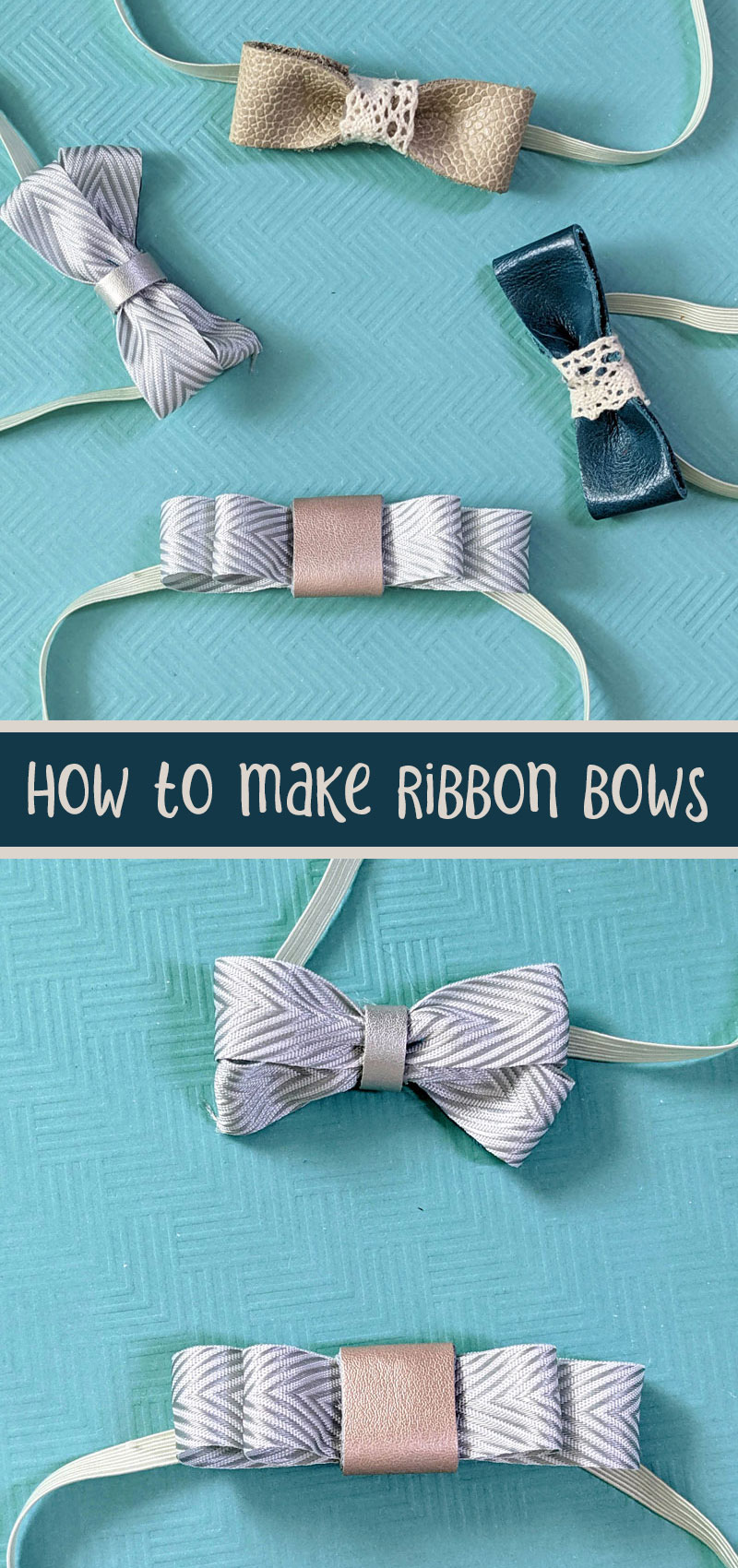 how to make a hair bow out of ribbon 3 ways