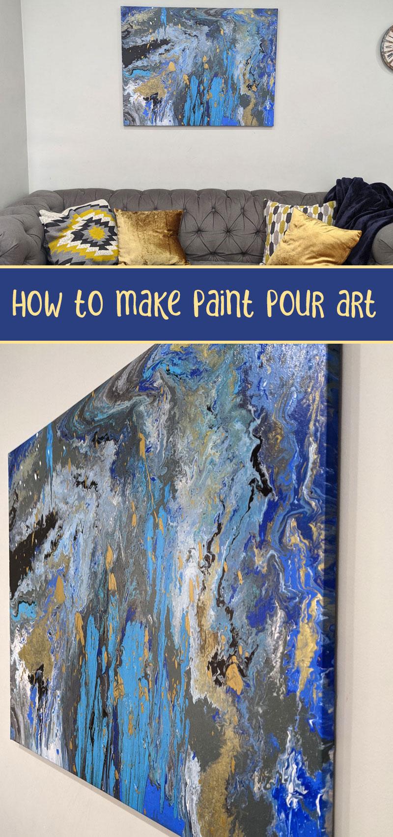 Poured paint art main hero