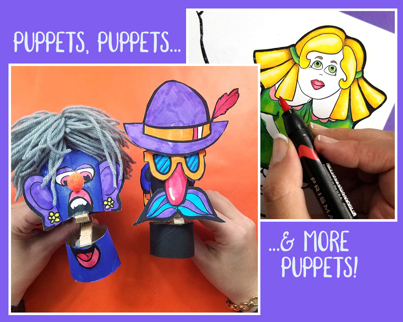 Printable Puppets to Craft and Play