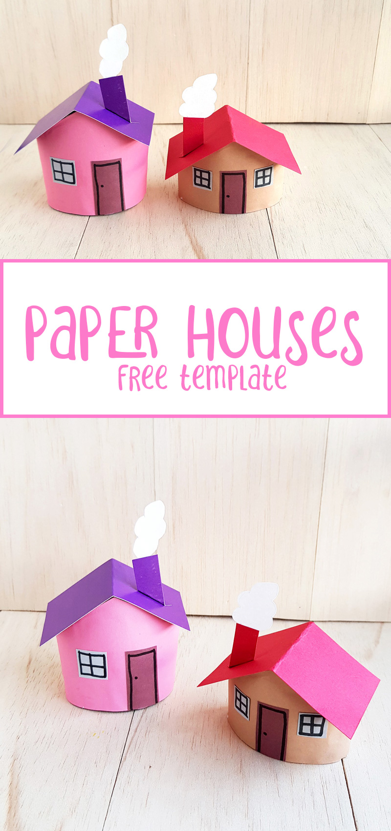 toilet paper roll houses collage