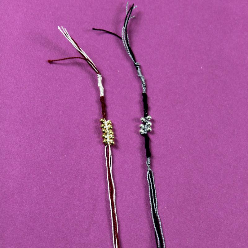 easy beaded friendship bracelets step 8