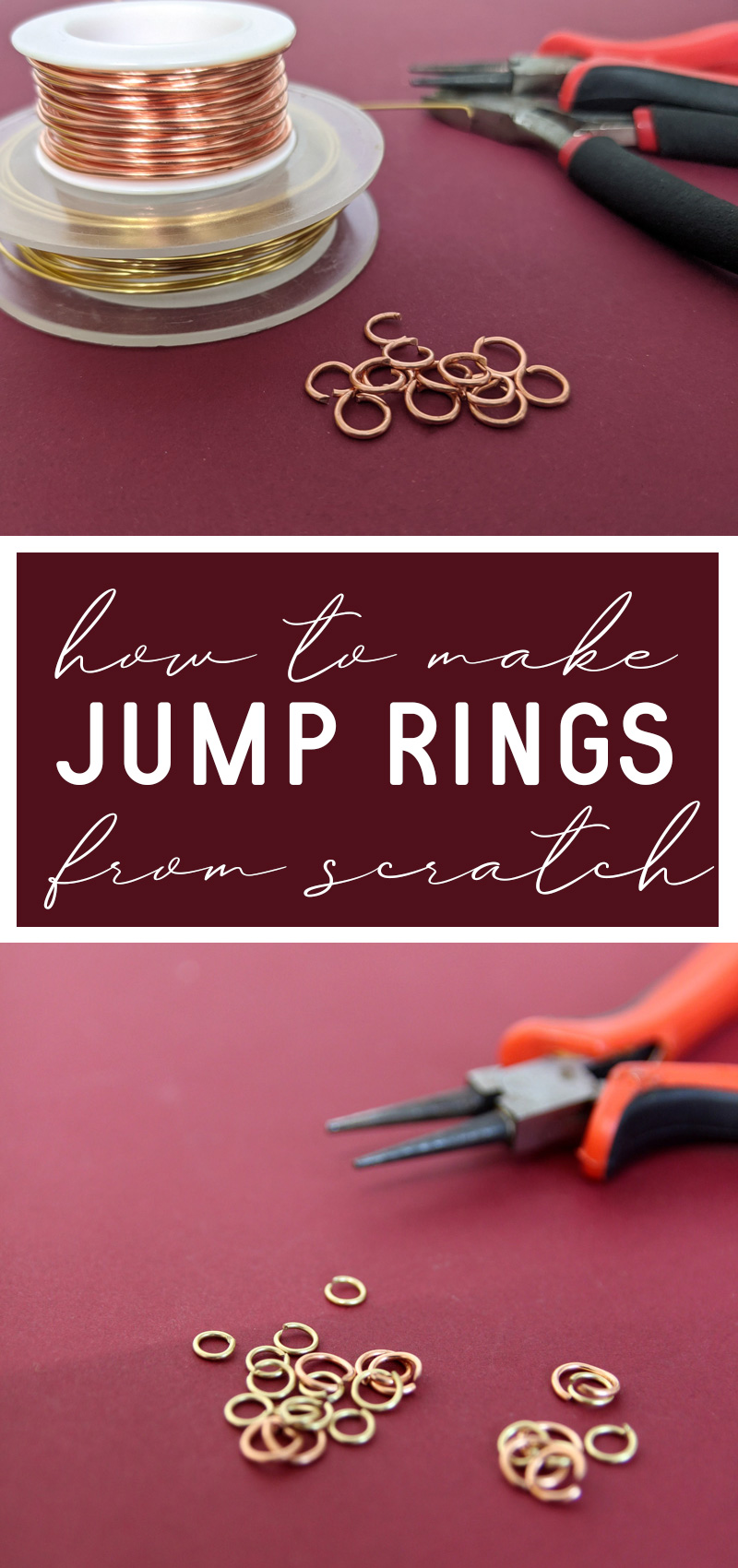 How to make jump rings hero collage