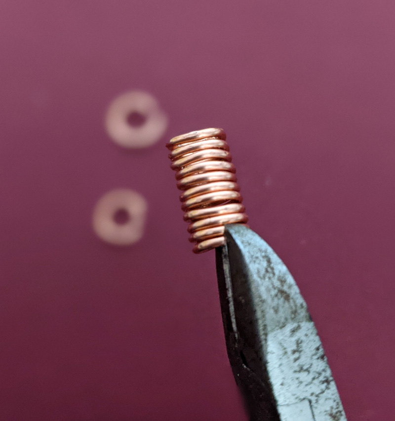 Snipping the jump ring coil
