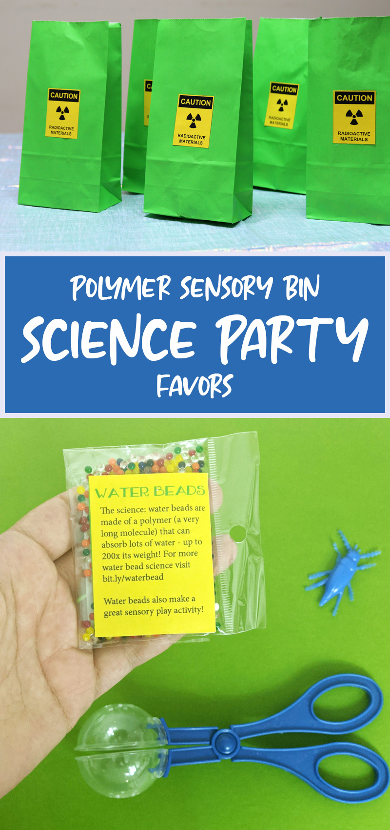 science party favors main hero collage