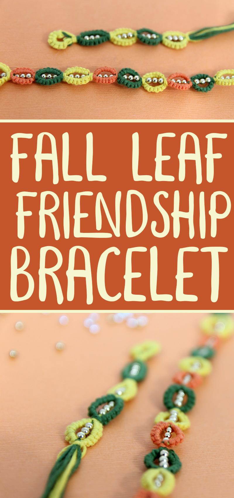 leaf friendship bracelet pattern collage hero