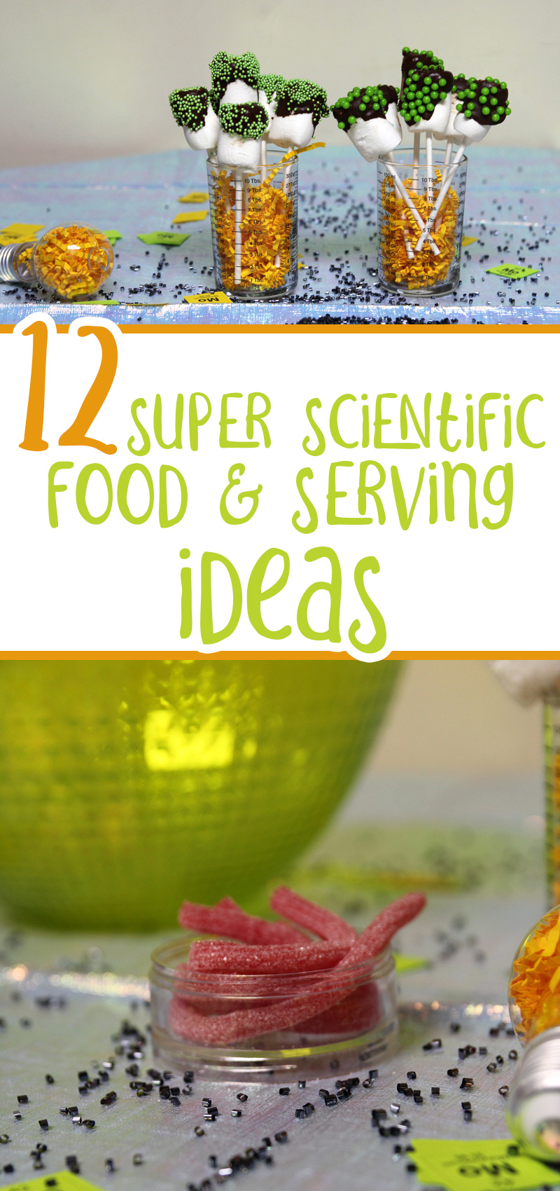 science party food ideas collage